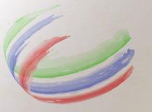 Rayas de la pintura al óleo, vector Art Background Fotos de archivo