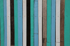 Rayas de madera coloridas Foto de archivo