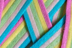 Rayas del caramelo de Unicorn Rainbow Foto de archivo libre de regalías