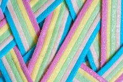 Rayas del caramelo de Unicorn Rainbow Imagen de archivo