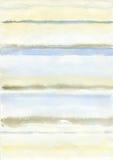 Rayas del fondo de la acuarela Foto de archivo