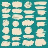 Rayas del marcador del vector fijadas Foto de archivo libre de regalías