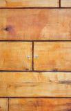 Rayas del marrón del tablero de madera Fotografía de archivo libre de regalías