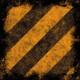 Rayas del peligro de Grunge Imagen de archivo libre de regalías