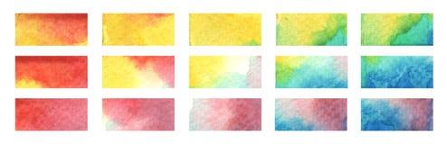 Rayas del punto culminante del color Ilustraci?n de la acuarela ilustración del vector