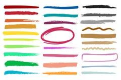 Rayas del punto culminante del marcador Imagen de archivo libre de regalías