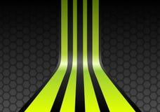 Rayas del verde de cal ilustración del vector