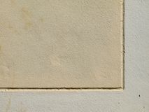 Rayas del yeso en la pared Foto de archivo