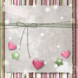 Rayas, estrellas y corazones Imágenes de archivo libres de regalías