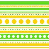 Rayas horizontales y círculos del vector inconsútiles Imagen de archivo