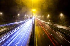Rayas ligeras de la autopista fotografía de archivo