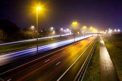 Rayas ligeras de la autopista imagenes de archivo