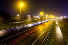 Rayas ligeras de la autopista foto de archivo libre de regalías