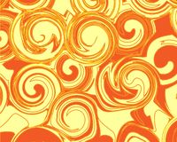 Rayas marrones blancas anaranjadas de la onda del fondo del extracto ilustración del vector