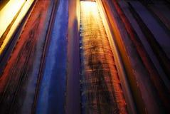 Rayas metálicas Fotos de archivo