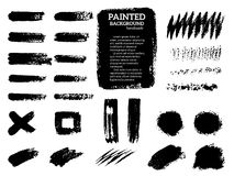 Rayas pintadas del grunge fijadas ilustración del vector