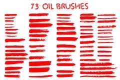 Rayas pintadas del grunge fijadas libre illustration