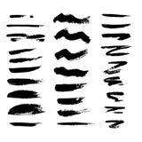 Rayas pintadas del grunge fijadas stock de ilustración