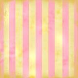 Rayas retras grandes en color de rosa y Tan Imagen de archivo