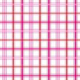Rayas rosadas de la tela escocesa Foto de archivo libre de regalías