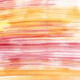 Rayas rosadas y anaranjadas de la acuarela