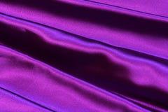 Rayas suaves ultra de Violet Purple Satin Fabric Fotografía de archivo libre de regalías