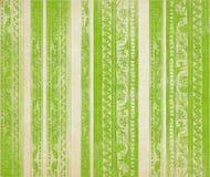 Rayas talladas madera floral verde Imágenes de archivo libres de regalías