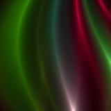 Rayas verdes y rojas de la luz Fotos de archivo libres de regalías