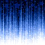Rayas verticales azules con las estrellas ilustración del vector