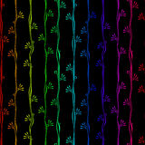 Rayas verticales del arco iris inconsútil del modelo Fotos de archivo libres de regalías