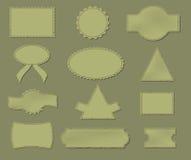 Rayas viejas fijadas para el diseño Foto de archivo