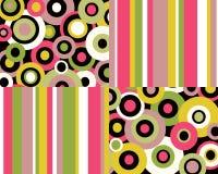 Rayas y collage retros de los círculos Foto de archivo libre de regalías