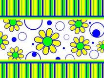 Rayas y círculos de las flores Fotos de archivo