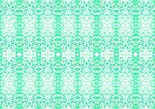 Rayas y figura inconsútiles simétricas arte del verde de la acuarela de la textura del modelo pintado a mano en el fondo blanco c fotos de archivo