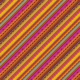 Rayas y fondo de los cordones de los colores del otoño stock de ilustración