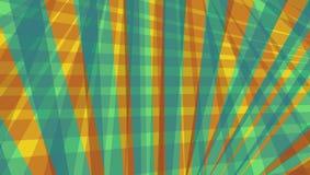 Rayas y líneas abstractas modelo en azul del oro y del trullo del rojo anaranjado Fotografía de archivo libre de regalías
