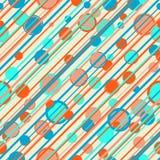 Rayas y modelo abstractos de los círculos Foto de archivo