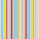 Rayas y puntos del color | Modelo inconsútil del vector Imagen de archivo libre de regalías