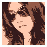 Rayban woman Royalty Free Stock Images
