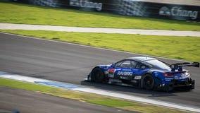 RAYBRIG NSX CONCEPT-GT da EQUIPE KUNIMITSU nas raças GT500 em Burir Imagens de Stock Royalty Free