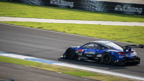 RAYBRIG NSX CONCEPT-GT of TEAM KUNIMITSU in GT500 Races at Burir Royalty Free Stock Images