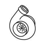 Raye l'icône de turbine illustration stock