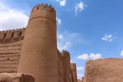 Городские стены Rayen, Ирана стоковое изображение