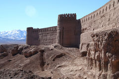 Rayen Castle. Ancient castle in Rayen near Bam Iran royalty free stock images