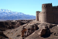 Rayen Castle. Ancient castle in Rayen near Bam Iran stock photos