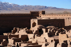 Rayen Castle. Ancient castle in Rayen near Bam Iran royalty free stock photo