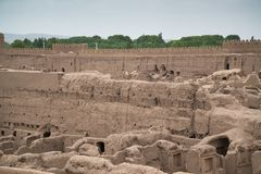 Rayen Castle arg-ε Rayen σε περσικό, Ιράν Στοκ Φωτογραφίες