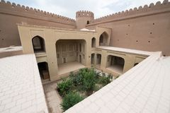 Rayen Castle, arg-ε Rayen σε περσικό, Ιράν Στοκ Εικόνες