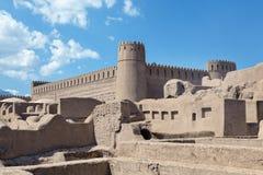 Rayenkasteel, Zuidoostelijk Iran Stock Foto's