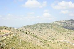 Rayez les collines de l'Israël Photos stock